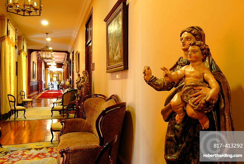 Virgin and Child, polychrome wooden statue, City Hall, La Orotava, Tenerife, Canary Islands, Atlantic Ocean