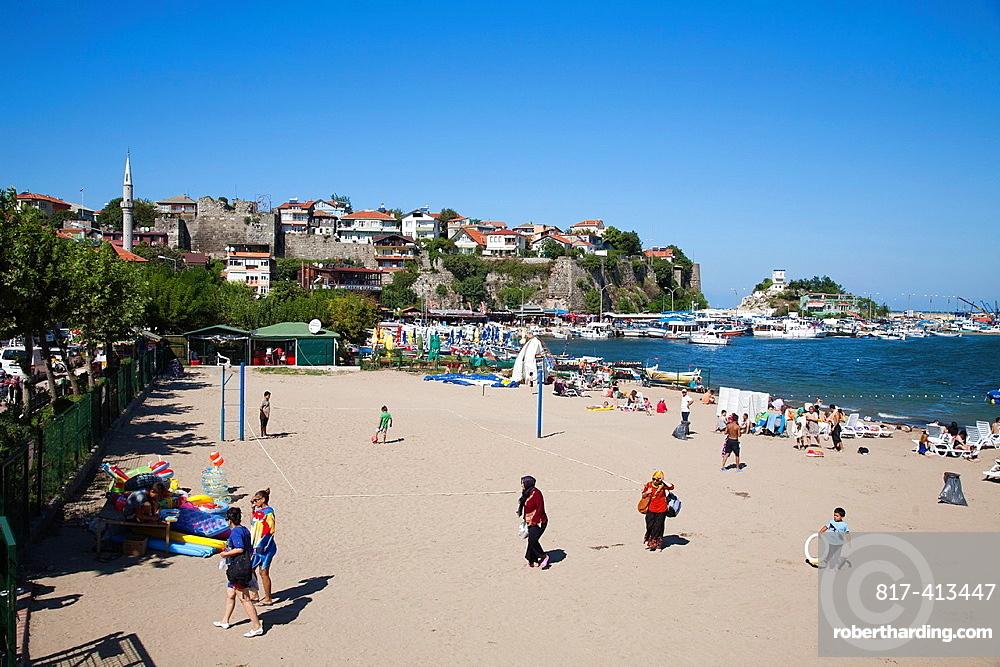 Beach, Amasra, Black Sea, Turkey, Asia