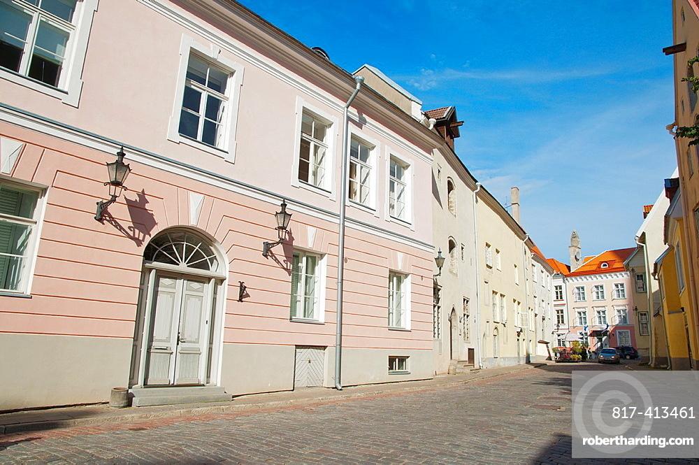 Pikk street Vanalinn the old town Tallinn Estonia Europe