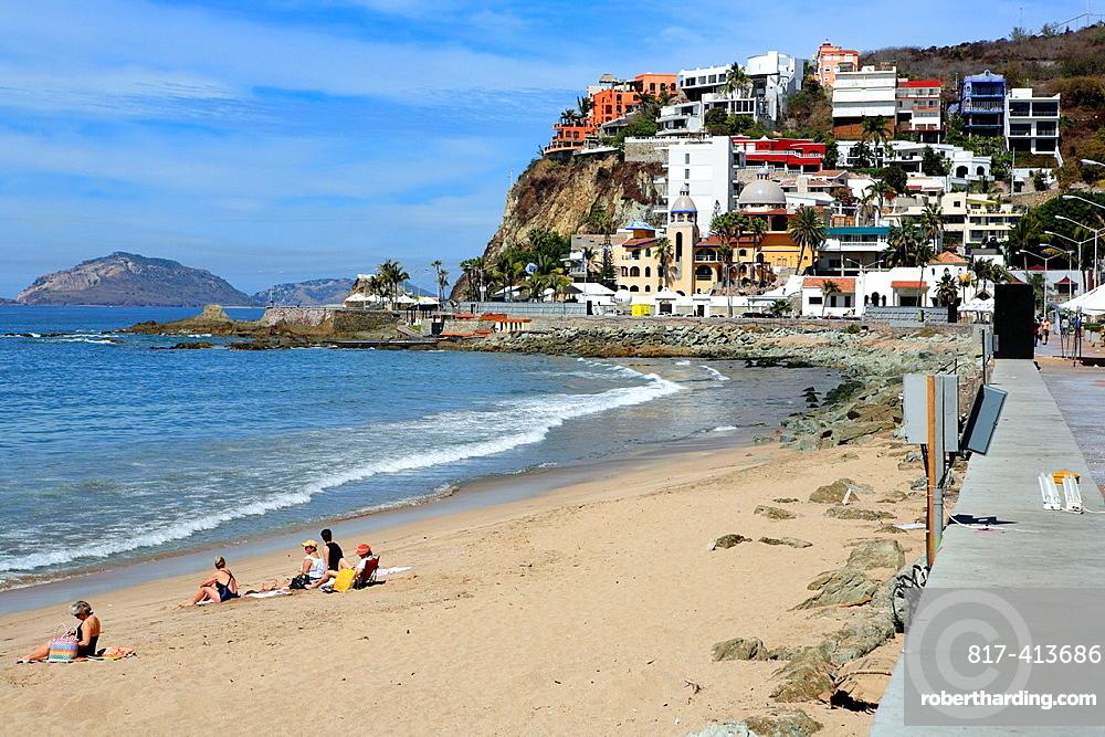 Beach on Pacific ocean, Mazatlan, Sinaloa, Mexico