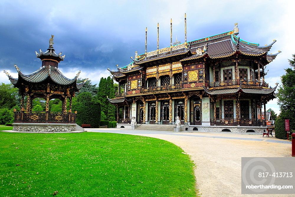 Chinese pavillion 1906, by Marcel Alexandre, Laeken, Brussels, Belgium