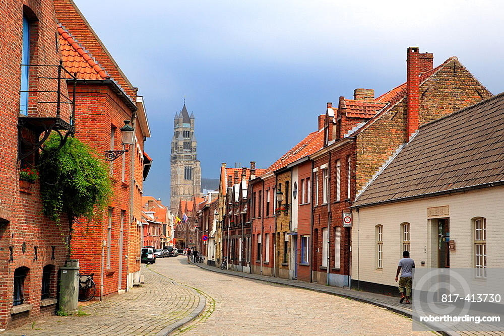 Street in the old city, Bruges, Belgium