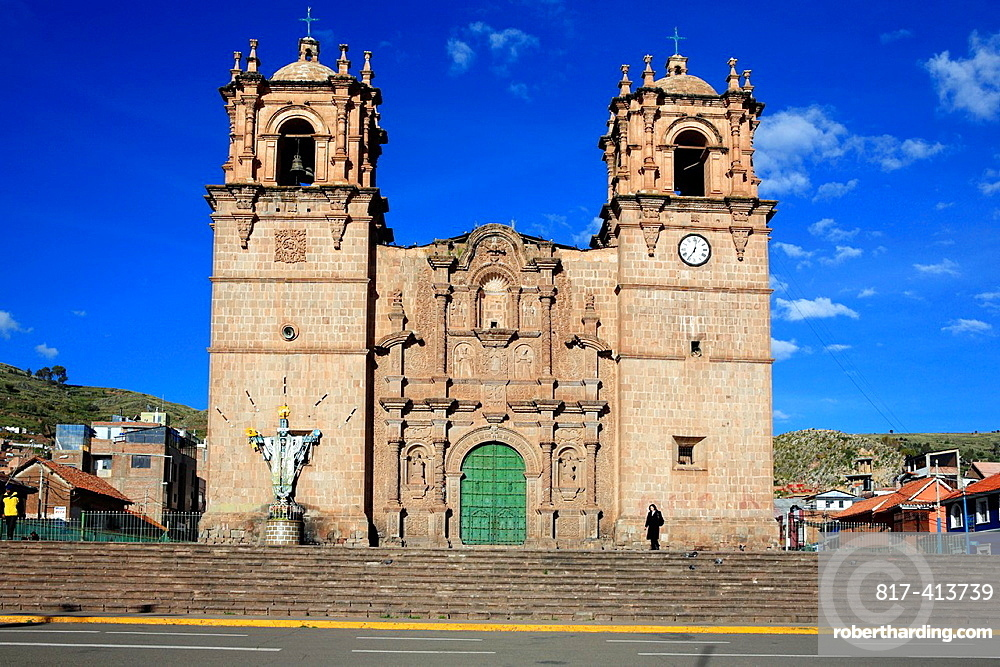 Cathedral 18th century, Puno, Peru