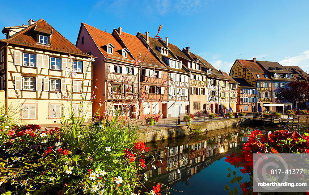 Timber framing houses at the fishmonger¥s district, Little venice, Colmar, Alsace, France