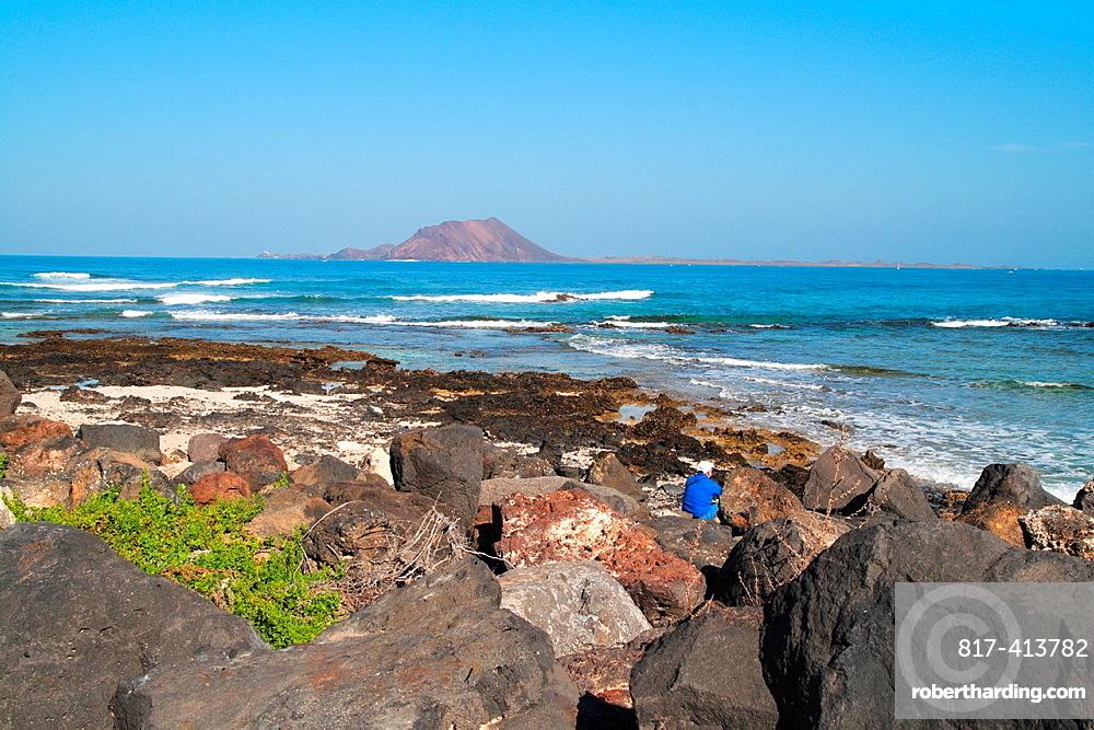 Corralejo coast in Fuerteventura