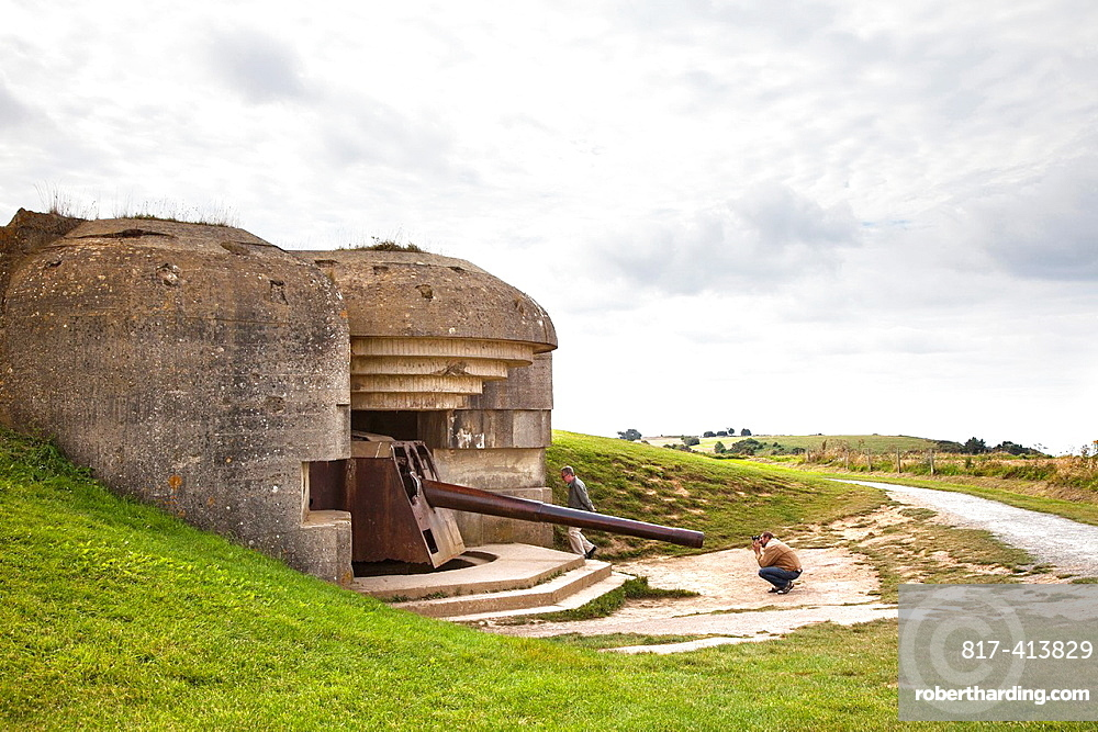 Longues-sur-Mer gun battery part of the Axis Atlantic Wall, Normandy, France