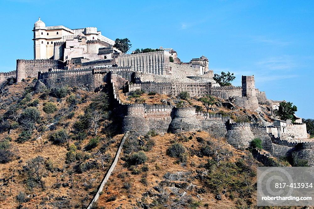 Kumbhalgarh fort near Ranakpur Rajasthan India