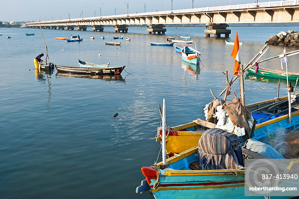 Road bridge connecting mainland to Diu India