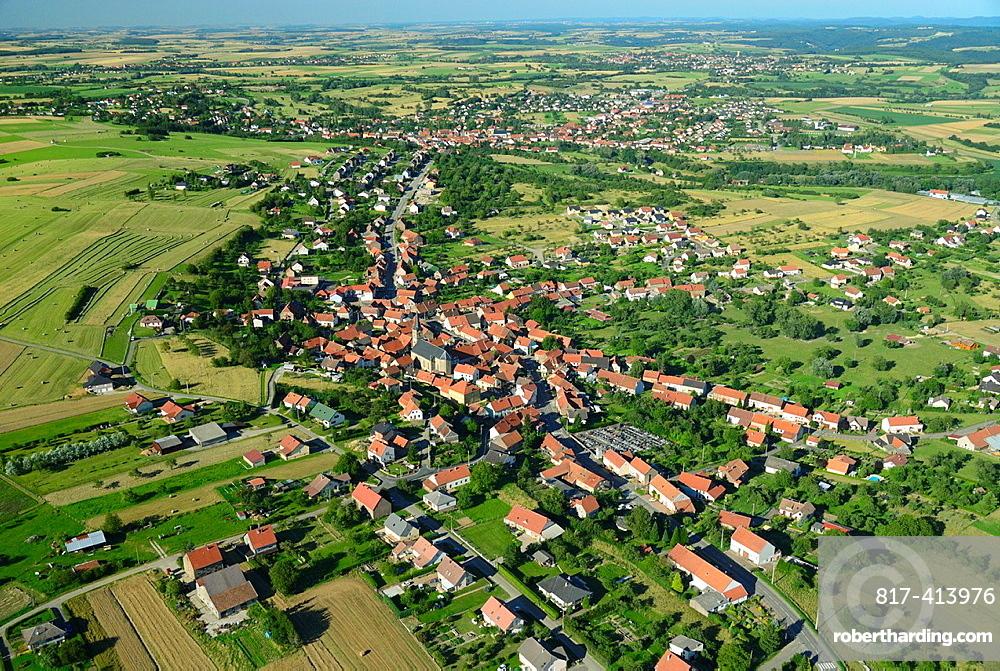 Village of Bining, Moselle, Lorraine, France