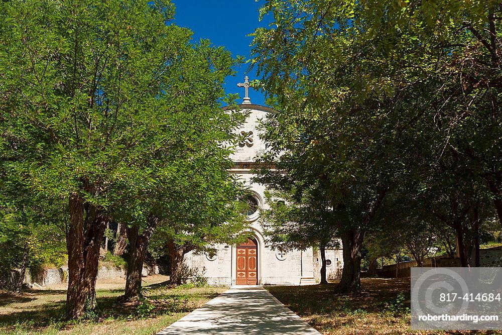 Parish church in Dol village on Brac island, Croatia