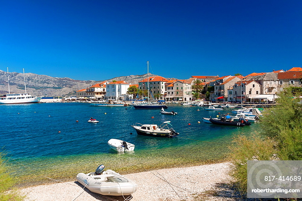 Port in Postira village on Brac island, Croatia