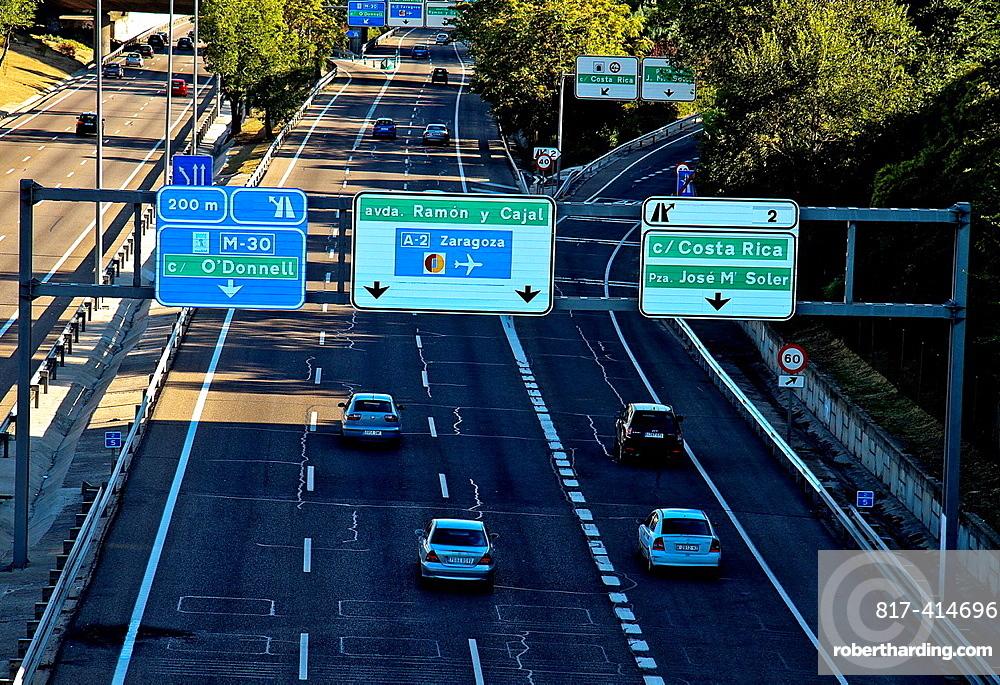 M-30, ring road Madrid, Spain