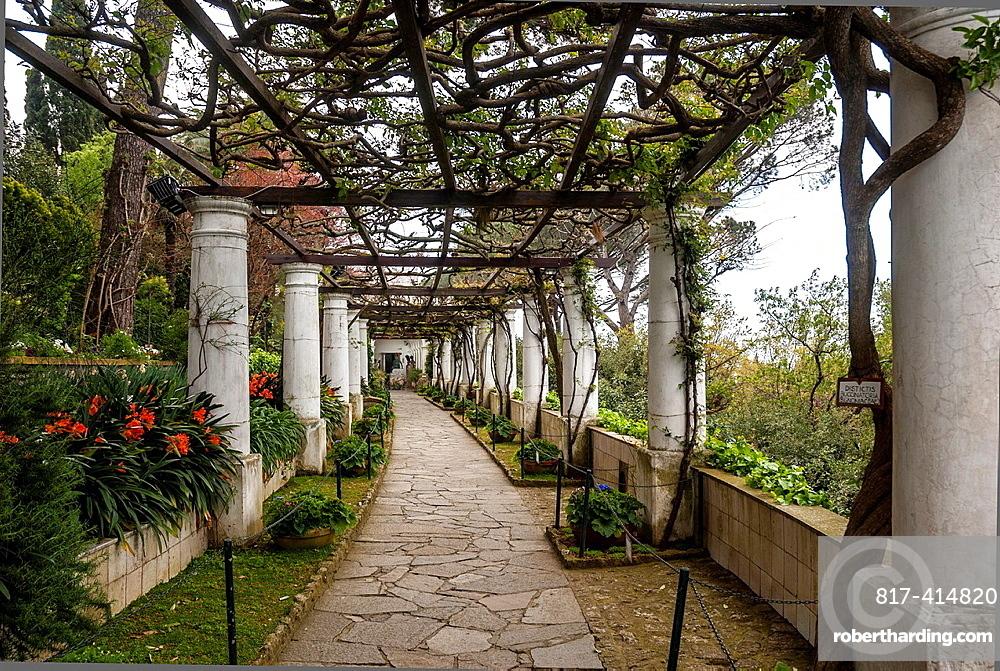 Villa San Michele gardens, Isle of Capri, Capri, Province of Naples, Campania, Italy, Europe