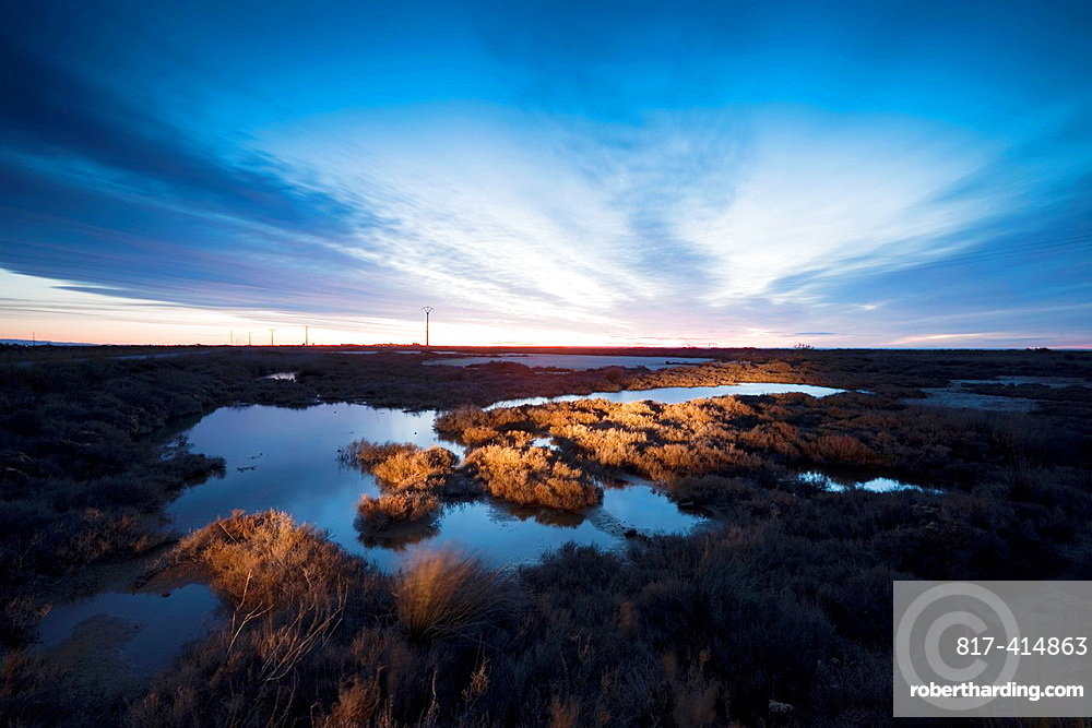 Sunrise at Delta del Ebro natural park