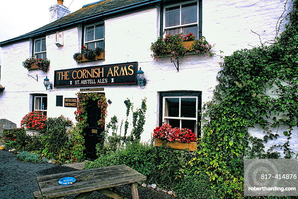 New Quay Cornish Arms bar in Cornwall England