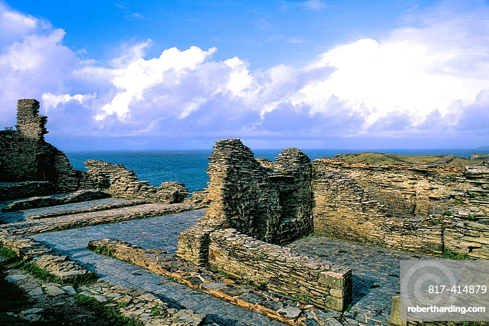 King Arthur¥s home Tintagel Castle in Cornwall England