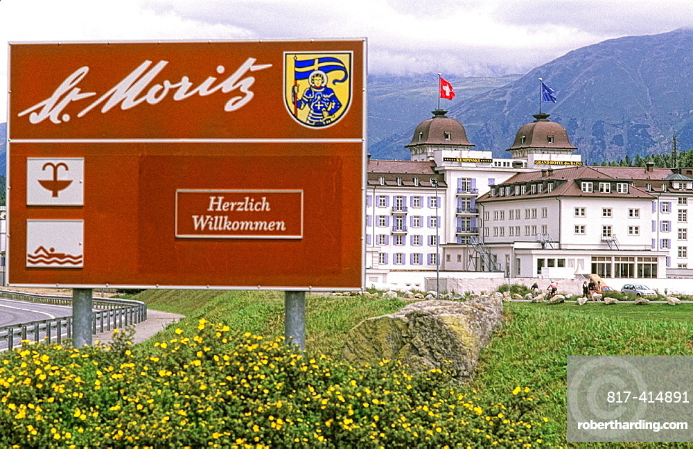 Sign for the Exclusive Expensive City of St Moritz, Switzerland
