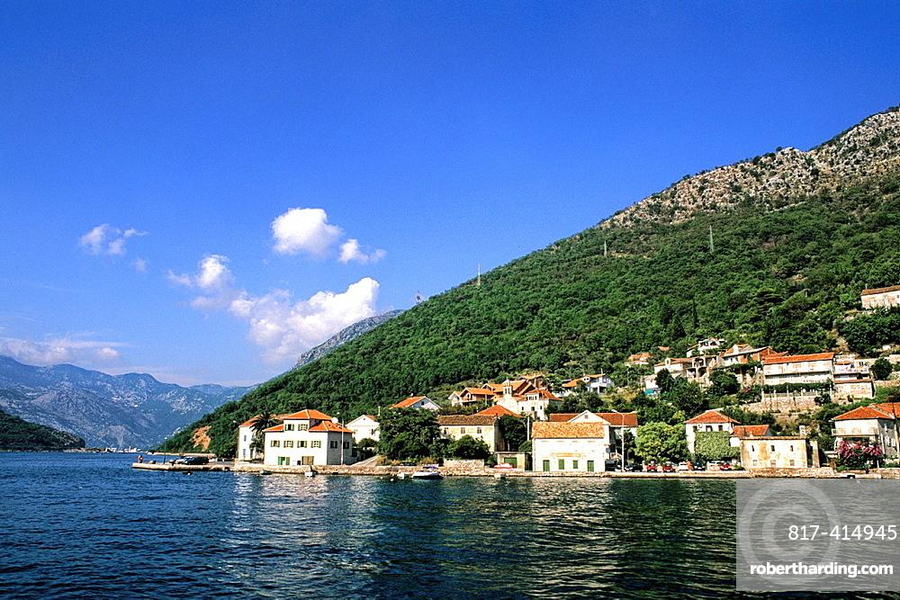 Montenegro beautiful coast harbor of Kotor Montenegro