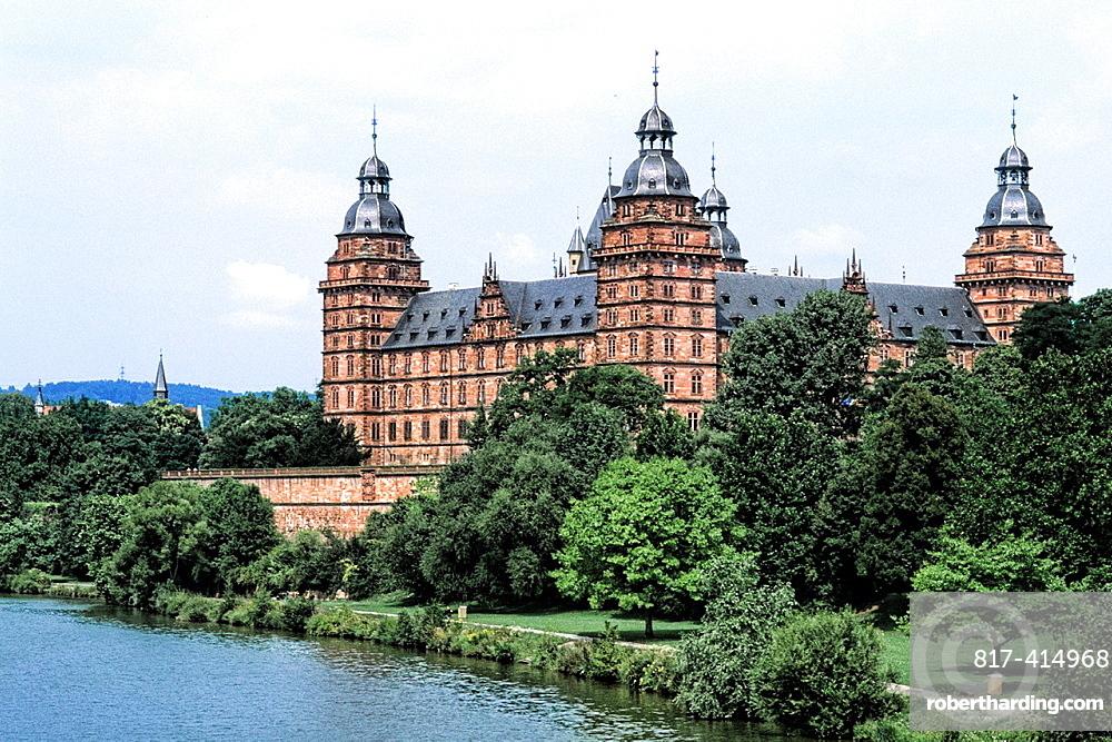 Germany Aschaffenburg Famous Johannisburg Palace by Rhine River