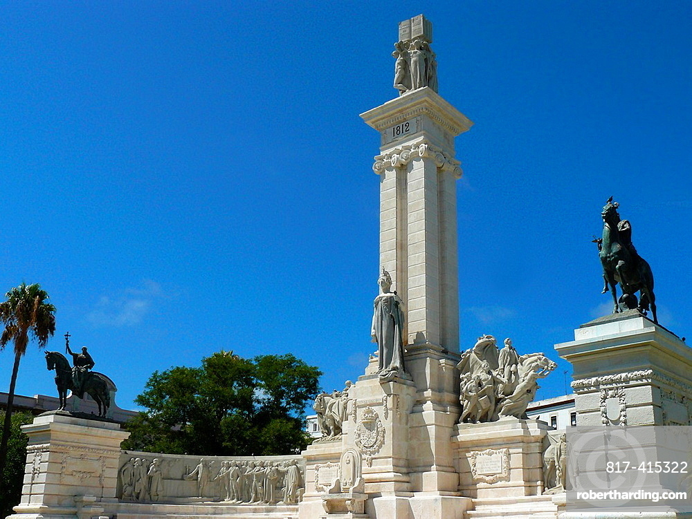 Cadiz Spain Monument to the Cortes of 1812 in the city of Cadiz,