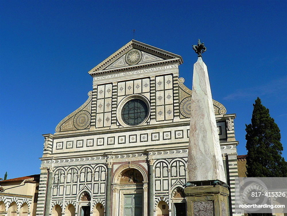 Florence Italy Church of Santa Maria Novella in the historical city of Florence