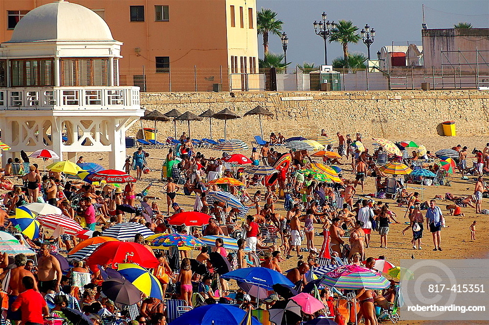 Cadiz Spain Caleta beach in the city of Cadiz