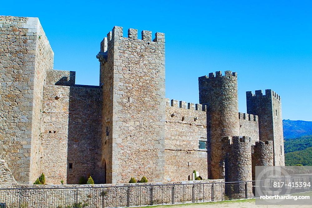 Castle of Montemayor del Rio, a small village declarated Historical-Artistic Site in Sierra de Bejar, Salamanca province Castilla y Leon Spain