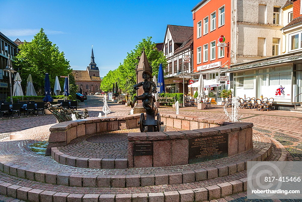 Market square in Bodenwerder on the German Fairy Tale Route, Lower Saxony, Germany, Europe