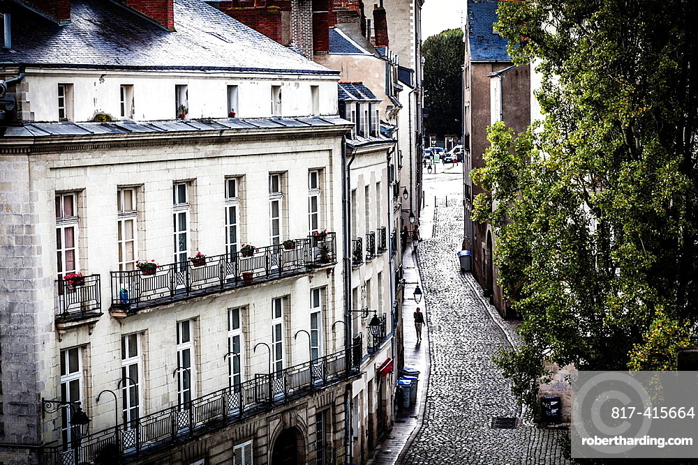 Bouffay district in the downtown of Nantes, Pays de la Loire, France, Europe