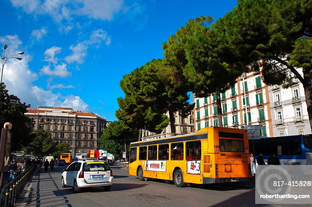 Piazza Garibaldi square central Naples city La Campania region southern Italy Europe