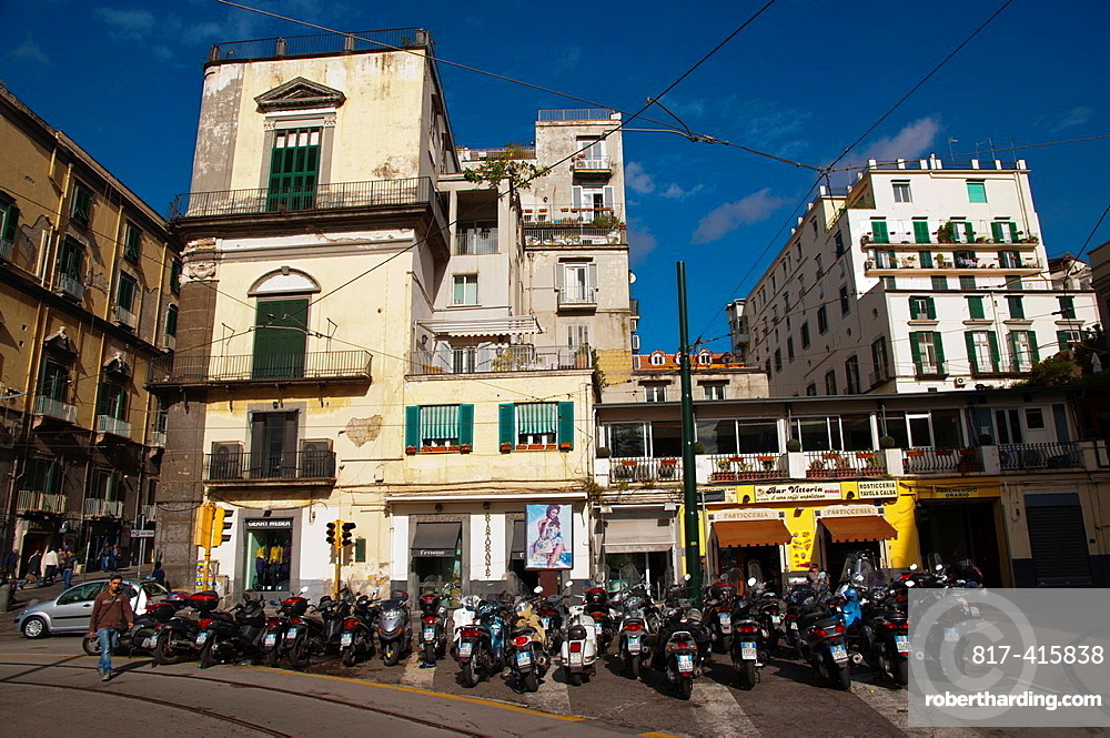 Piazza Vittoria square Chiaia district Naples city La Campania region southern Italy Europe