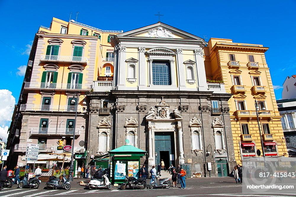 Chiesa San Ferdinando church Piazza Trieste e Trento square Santa Lucia district central Naples city La Campania region southern Italy Europe