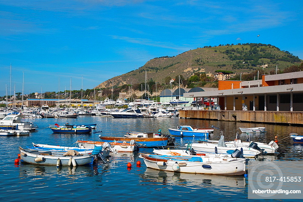 Porto di Pozzuoli the port harbour area of the ancient Puteoli in Campi Flegrei area La Campania region southern Italy Europe