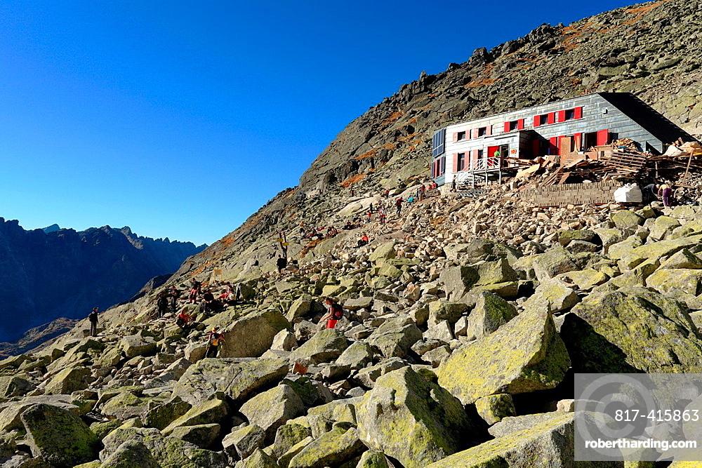 The mountain chalet Chata pod Rysmi after reconstruction, High Tatras, Slovakia