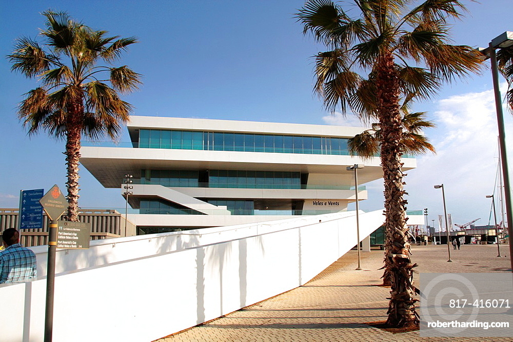 Veles E Vents, Americas Cup Building, City Port Americas Cup, Valencia, Comunitat Valenciana, Spain, Europe