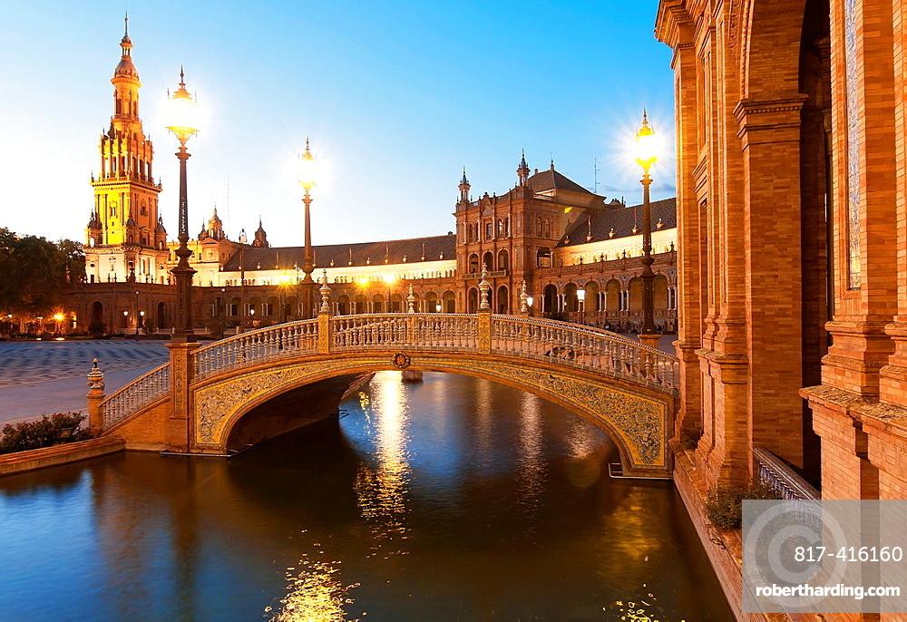 Plaza de Espana, Seville, Spain,