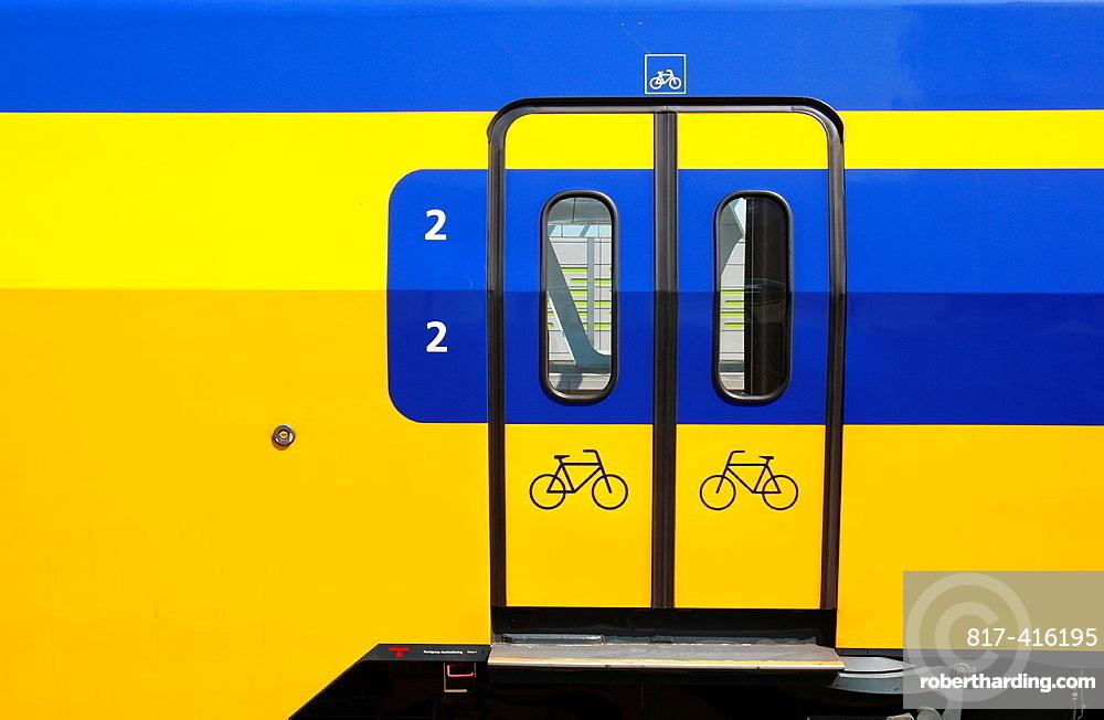 Train at Cetral Station in Arnhem, Netherlands