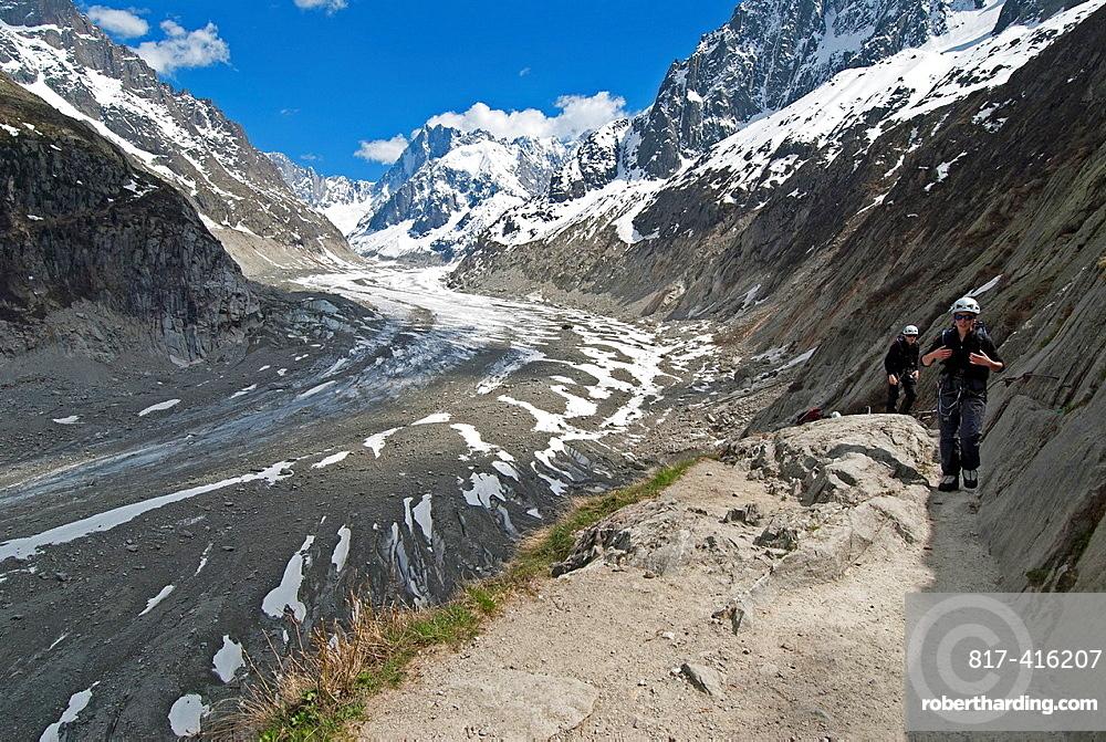 Glace de Mer glacier, Chamonix, French Alps, Rhone Alpes, France, Europe