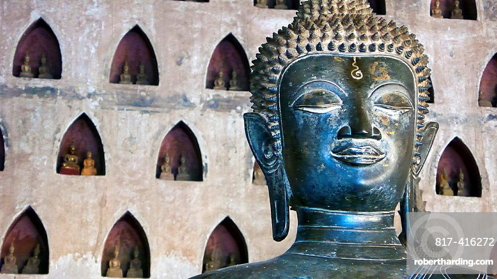 Buddha Wat Sisaket Vientiane Laos PDR