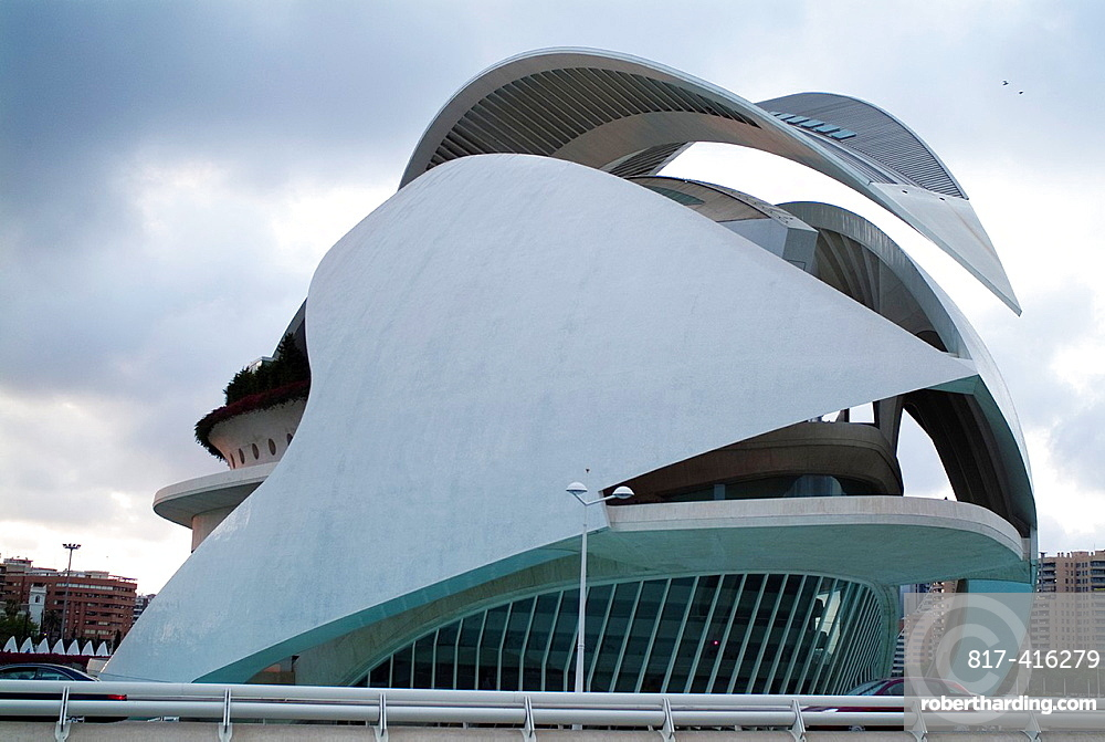 Palau de les Arts Reina Sofia, City of Arts and Sciences, Valencia, Spain, Europe