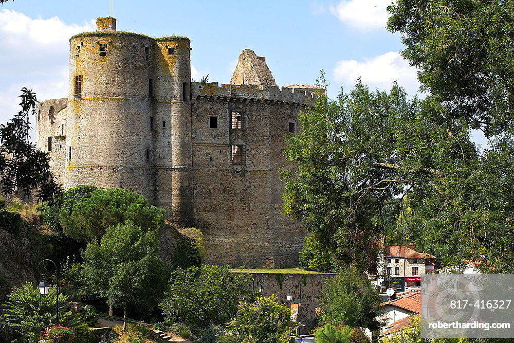 Erected at the end of the Xth, the fortress of Chateau de Clisson, Loire Atlantique, France
