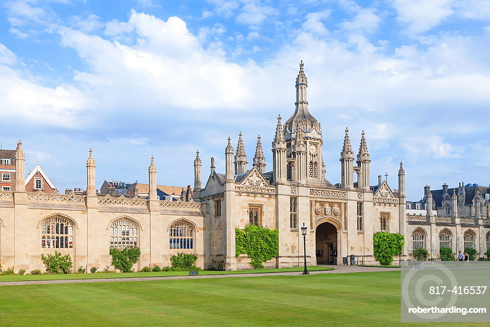 Kings college gatehouse viewed from the front court Cambridge, England