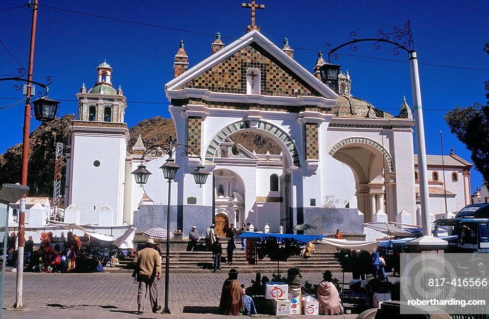 Moorish style Cathedral in Copacabana, Bolivia