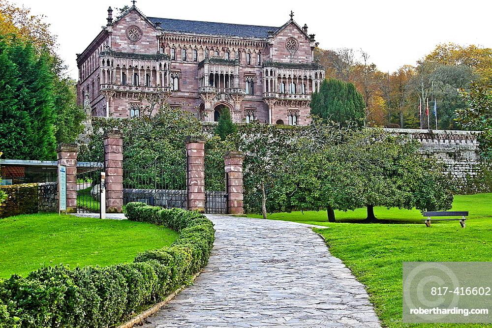 Palacio de Sobrellano buily by Joan Martorell i Mintells Comillas, Cantabria, Spain