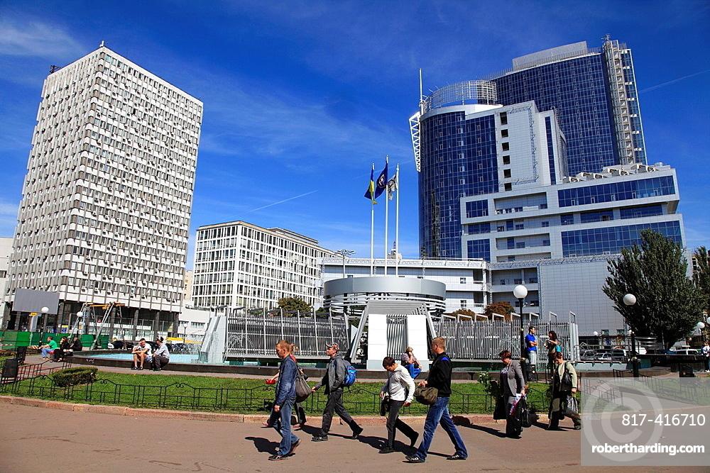 Ukraine, Kiev, Kyiv, skyscrapers, modern architecture,