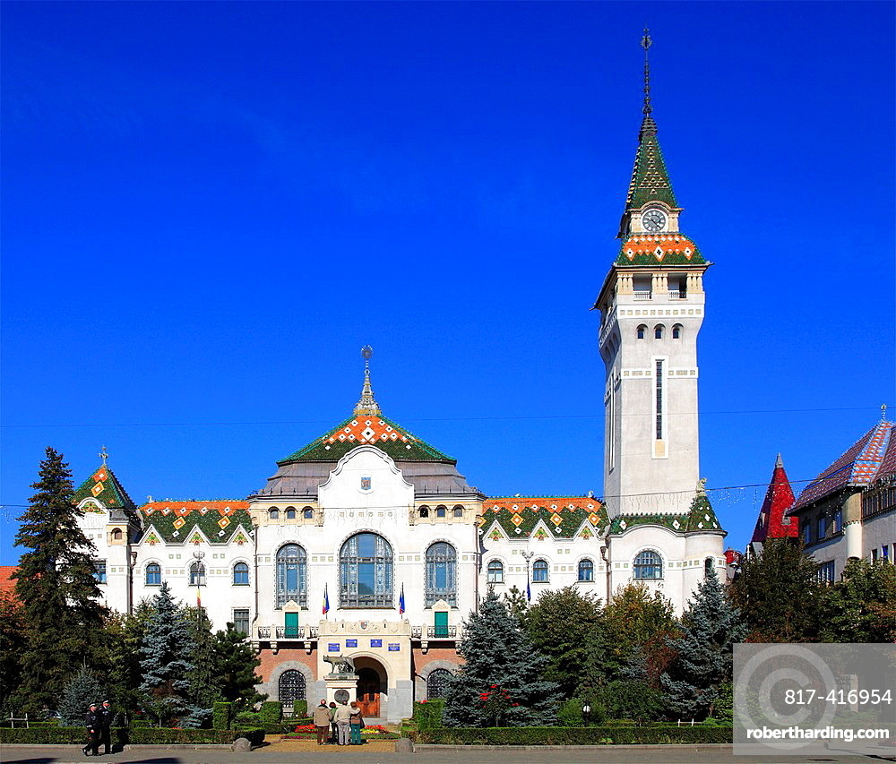 Romania, Targu Mures, County Council Building,