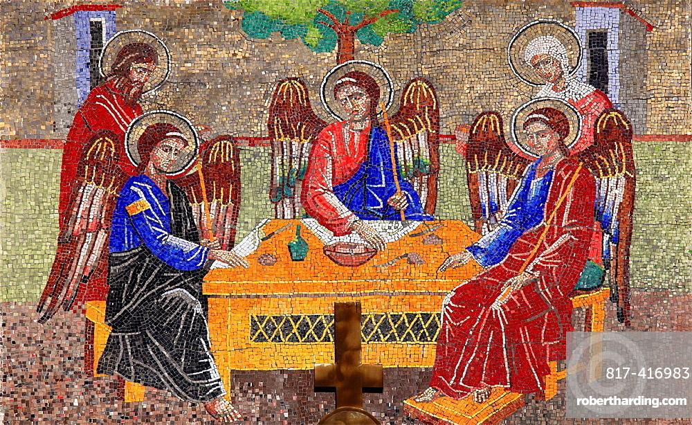 Romania, Cluj-Napoca, Orthodox Church, mosaic,