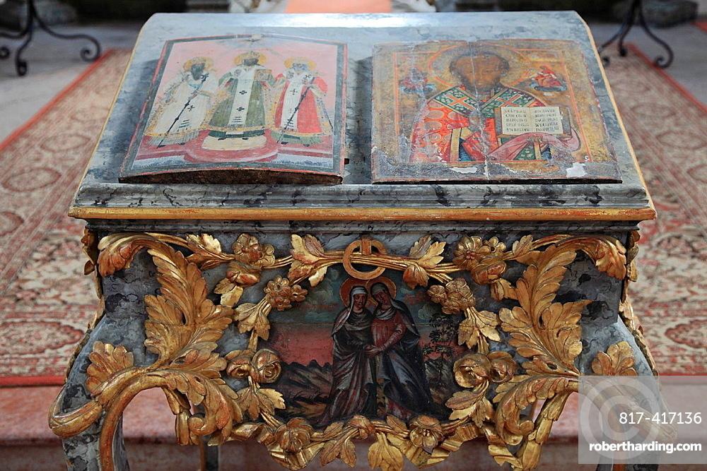 Hungary, Eger, Serbian Orthodox Church, interior,