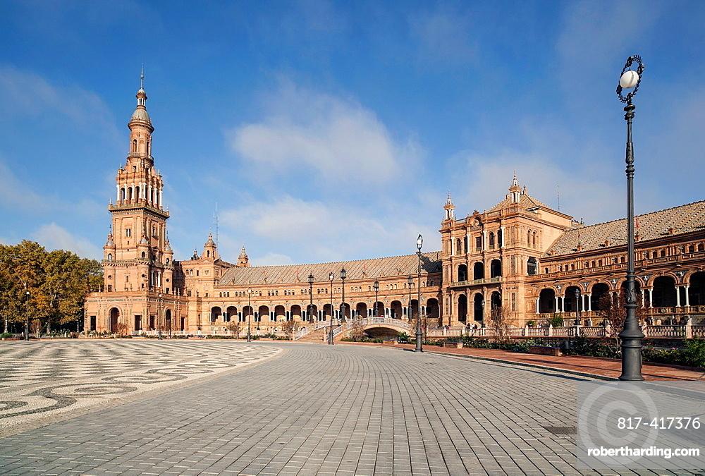 Sevilla, Andalucia, Spain Plaza Espana