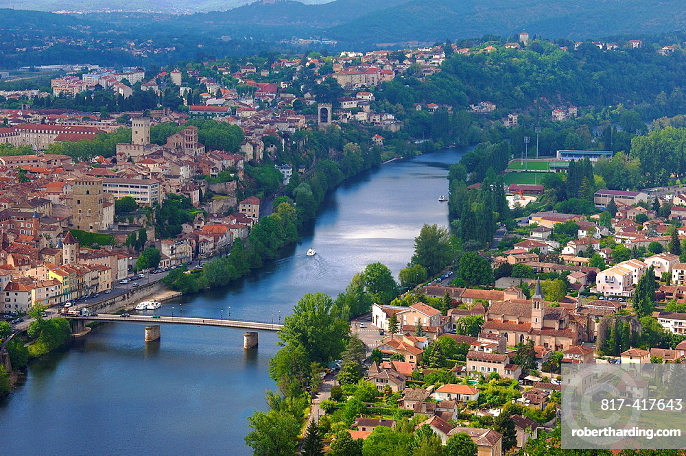 Cahors, Lot River, Lot departament, Quercy, Via Podiensis, Way of St James, France